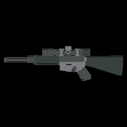 Rifle butt charger barrel weapon flat