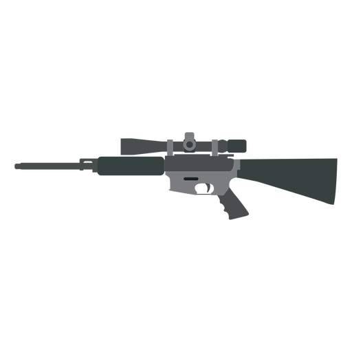 Rifle butt charger barril arma plana Transparent PNG