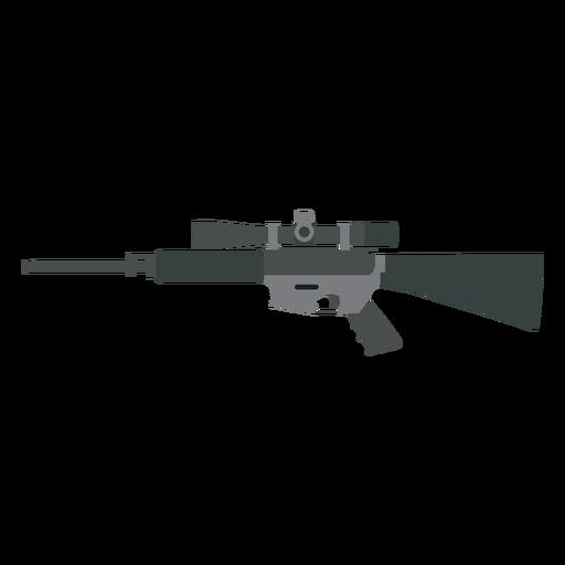 Rifle culata cargador barril arma plana Transparent PNG