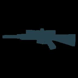 Gewehrkolbenladegerät-Fasswaffe gestreifte Silhouette