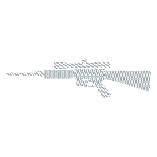 Rifle butt charger barrel weapon striped silhouette Transparent PNG