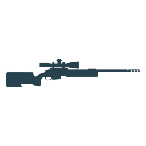Rifle charger barrel butt weapon silhouette Transparent PNG