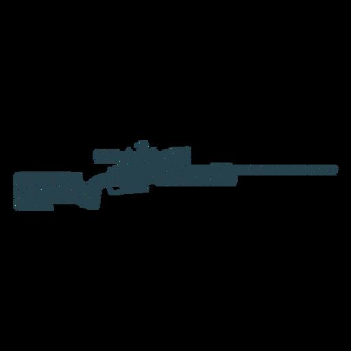 Rifle charger barril bunda arma silhueta listrada Transparent PNG