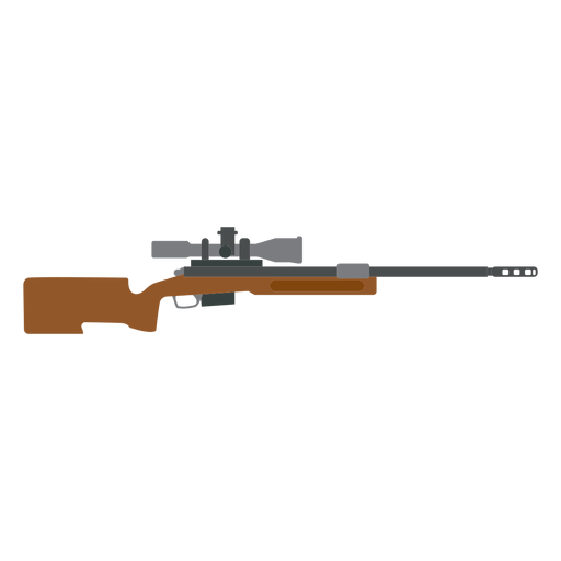 Rifle charger barrel weapon butt flat Transparent PNG