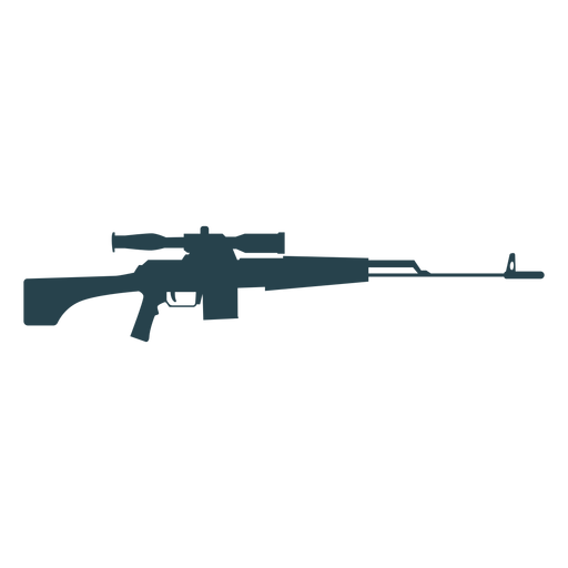Rifle charger barrel weapon butt silhouette Transparent PNG