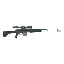 Rifle charger butt barrel weapon flat