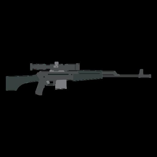 Cargador de rifle culata arma arma plana Transparent PNG