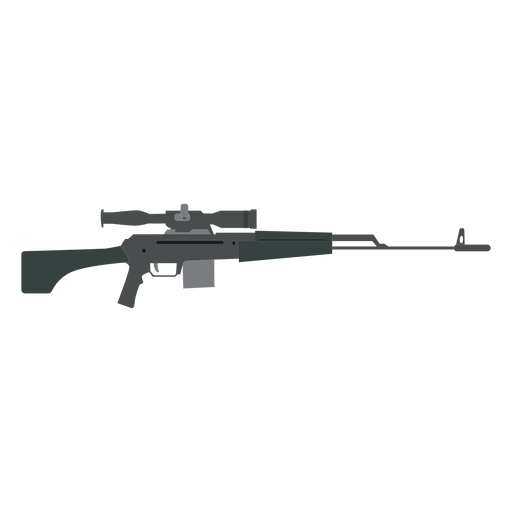 Rifle charger butt barrel weapon flat Transparent PNG