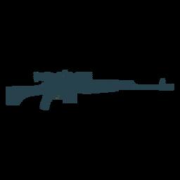 Rifle cargador a tope barril arma a rayas silueta