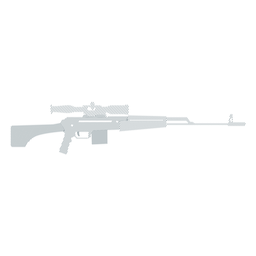 Rifle charger butt barrel weapon striped silhouette
