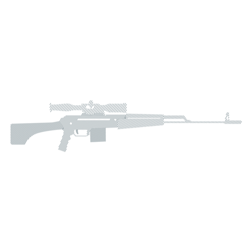 Rifle charger butt barrel weapon striped silhouette Transparent PNG