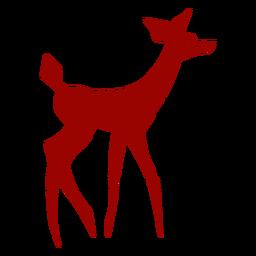 Ausführliche Silhouette des Rogen-Damhirschkuh-Hufendstückmusters