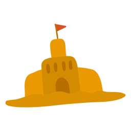 Forma de bandera de castillo de arena plana