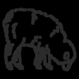 Doodle de casco de lã de ovelha ovelha cordeiro