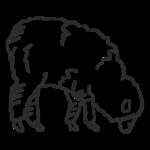 Sheep lamb ear wool hoof doodle Transparent PNG