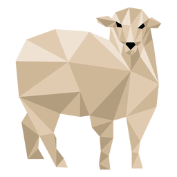Schaf Lamm Ohr Wolle Huf Low Poly