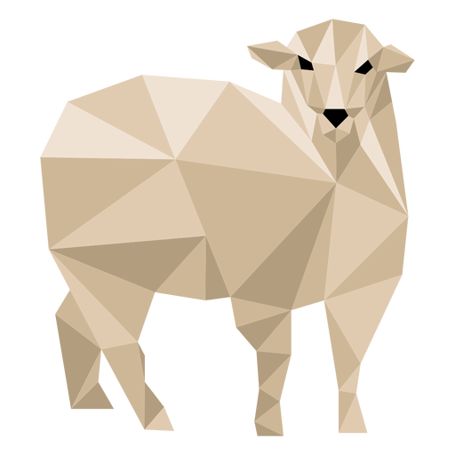 Sheep lamb ear wool hoof low poly Transparent PNG