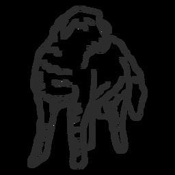 Doodle de lã de orelha de casco de ovelha