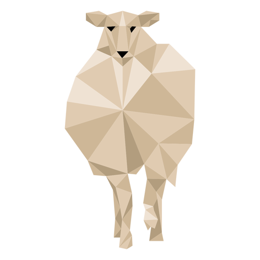 Sheep lamb hoof wool ear low poly Transparent PNG