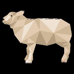 Casco de ovelha lã de cordeiro orelha baixa poli