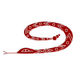 Serpiente bifurcada lengua larga torsión patrón silueta detallada