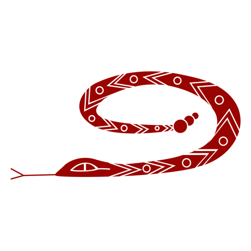 Snake forked tongue long twisting pattern detailed silhouette Transparent PNG