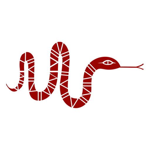 Snake forked tongue twisting long pattern detailed silhouette Transparent PNG