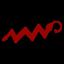 Serpiente retorciendo lengua bifurcada patrón largo silueta detallada