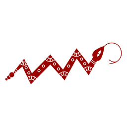 Serpiente torciendo la lengua bifurcada patrón largo silueta detallada