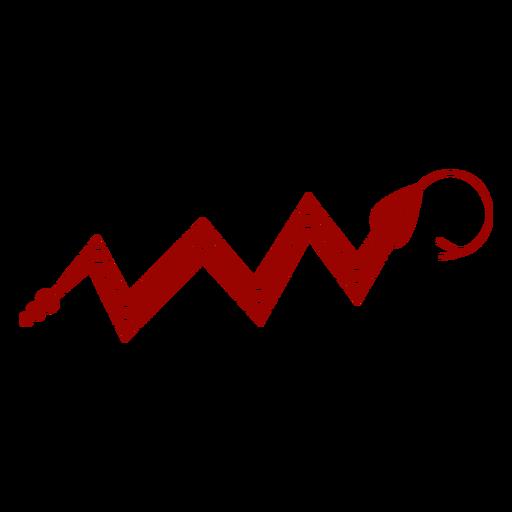 Serpiente torciendo la lengua bifurcada patrón largo silueta detallada Transparent PNG