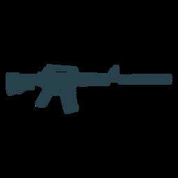 Gestreifte Silhouette der Maschinenpistolenlauf-Ladegerätwaffe