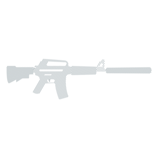 Submachine gun barrel butt charger weapon striped silhouette Transparent PNG