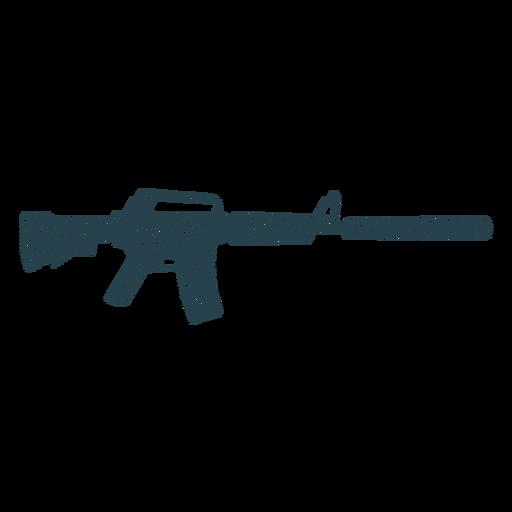 Submetralhadora barril bunda carregador arma silhueta listrada Transparent PNG