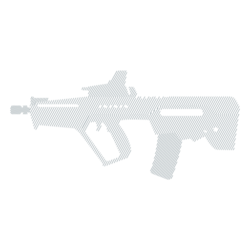 Submetralhadora barril arma barril bunda silhueta listrada Transparent PNG