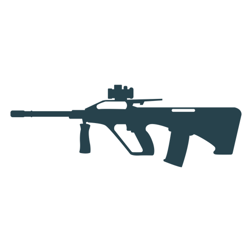 Submachine gun barrel charger weapon butt silhouette Transparent PNG