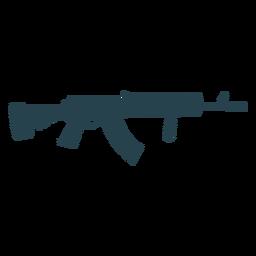 Submachine arma barril bunda arma carregador silhueta listrada