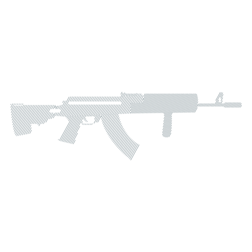 Submachine gun butt barrel weapon charger striped silhouette Transparent PNG