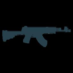 Silueta de arma de barril cargador de culata de subfusil