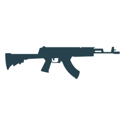 Submachine gun butt charger barrel weapon silhouette