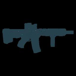 Gestreifte Silhouette der Maschinenpistolen-Kolbenladegerät-Laufwaffe