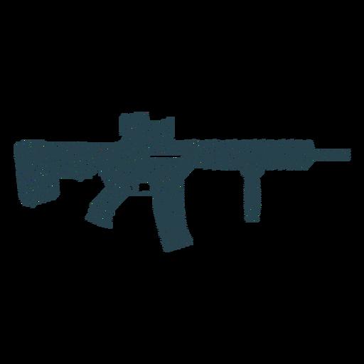 Subfusil ametrallador arma culata arma silueta a rayas Transparent PNG