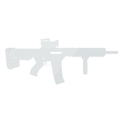 Submachine gun butt charger barrel weapon striped silhouette Transparent PNG