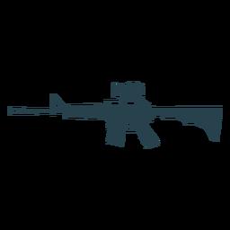 Submetralhadora silhueta de barril de arma de carregador de bunda