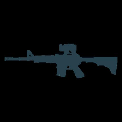 Submachine gun butt charger weapon barrel silhouette Transparent PNG