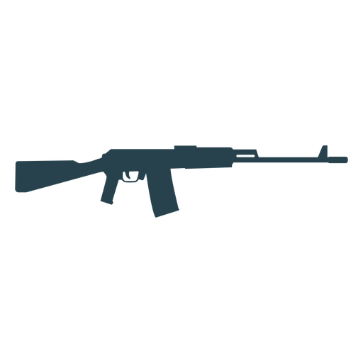 Submachine gun charger barrel butt weapon silhouette Transparent PNG