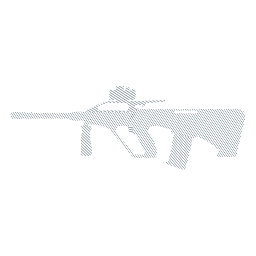 Submachine gun charger barrel butt weapon striped silhouette Transparent PNG