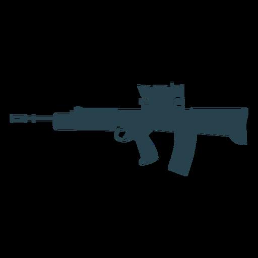 Submachine gun charger barrel weapon butt silhouette Transparent PNG