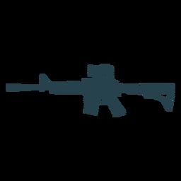 Gestreifte Silhouette des Maschinenpistolen-Ladegerät-Laufwaffen-Stummels
