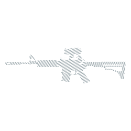 Submachine gun charger barrel weapon butt striped silhouette Transparent PNG