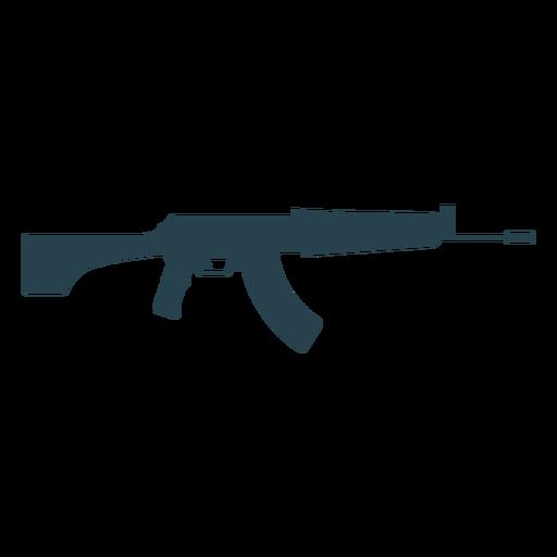 Submachine gun charger butt barrel weapon silhouette Transparent PNG